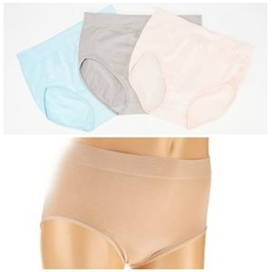 Breezies Set of 6 Seamless Brief Panties NWOT P352